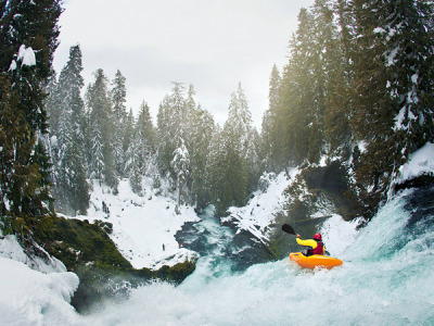 Kayaking over a waterfall…as never seen before. Read the interview with photographer Tim Kemple about how he got this incredible shot.