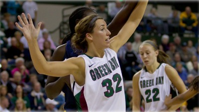 This is Wisconsin-Green Bay's star player, Julie Wojta. Her team finished 30-1 this season but only got a #7 seed in the tournament and will have to play Iowa State for the second time in the last three tournaments on the Cyclones home court in Ames, Iowa. They'll have their work cut out for them!
