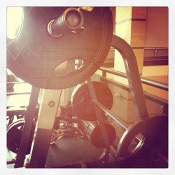 #marchfitnessphotoaday 13 // weights. My favorite rack - squat rack! (Taken with instagram)