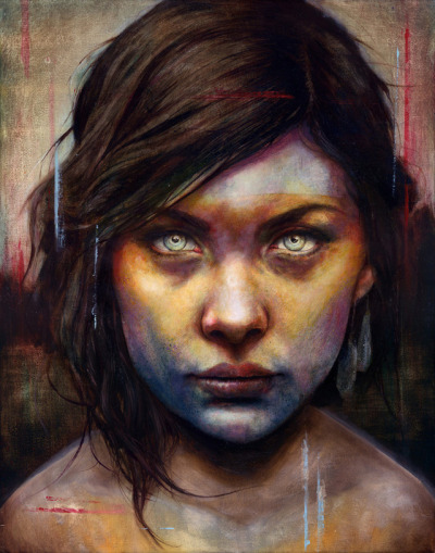 Portraits by Michael Shapcott       Connecticut-based artist Michael Shapcott creates wonderfully colored portraits by starting with graphite underdrawings that are then painted with washes in oil and acrylic. He currently has work at Thinkspace in Culver City through March 24th, and you can buy prints at Society6. Shapcott also shoots detailed process videos and makes them available via YouTube.