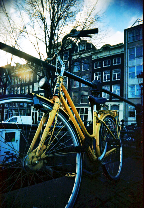 Bicycle, Amsterdam | Shot with a Superheadz Black Slim Devil and Kodak Ektar 100 {See more photos shot with a Slim Wide Devil}