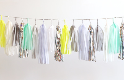 New CONFETTISYSTEM Tassel Garland, Limon Palette.  Available online here. Photo by CONFETTISYSTEM