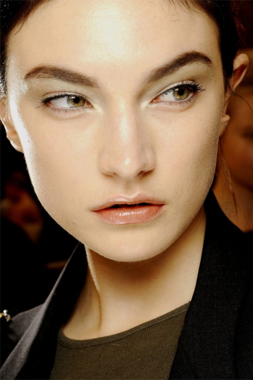 Jacquelyn Jablonski at Giorgio Armani Prive Spring/Summer 2012 Backstage