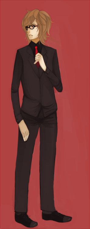 "My OC Rekt looking like a business man u""v""ullll  more painting practice OTL"