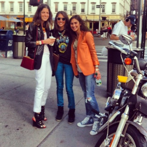 Tallest to coolest, left to right #yaknow @jodielynns @manrepeller  (Taken with instagram)
