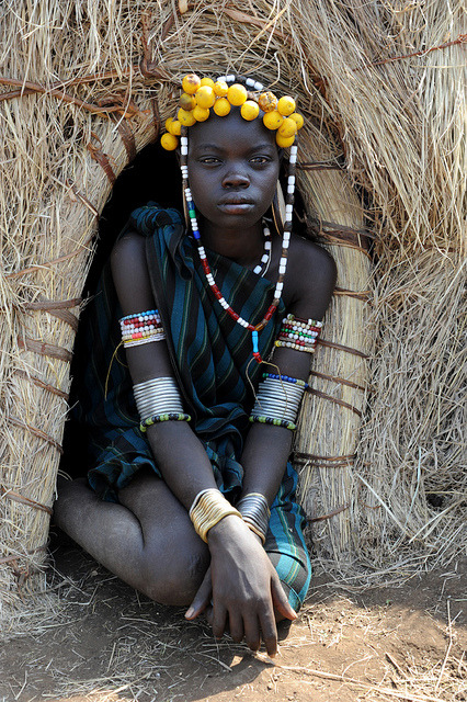 tribal-beauty:  Mursi girl - Omo valley by Jean-Christophe Huet on Flickr.