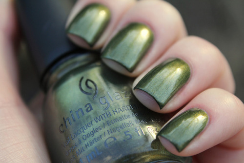 China Glaze Agro on Flickr.Another stunner from the Hunger Games collection. I really like this.  www.coewlesspolish.wordpress.com