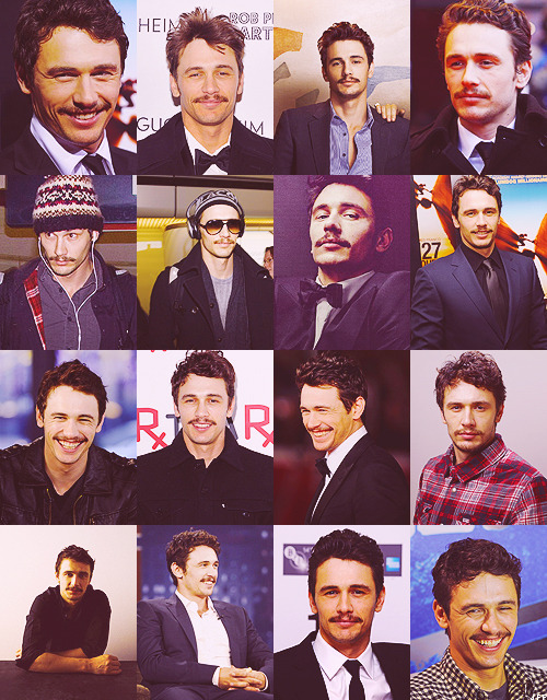 James Franco with the pornstache