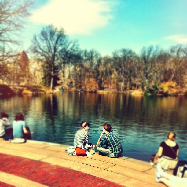 Today's Lunch Break #centralpark #nyc #newyorkcity  (Taken with Instagram at Central Park Boathouse)