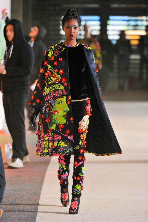 anubis-black:  modelsofcolor:  Devanie Gobir | Manish Arora F/W 2012  swag Dev out. good for her.