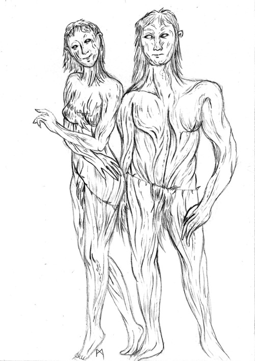 a sketch of how i think dryads would look like i hate drawing men
