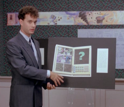 imremembering:  When Tom Hanks Invented the eBook Reader in 1988 via scrapsity   Actually, I think Asimov wrote about them in the 50's. I didn't intend on ruining your joke - it just happened.