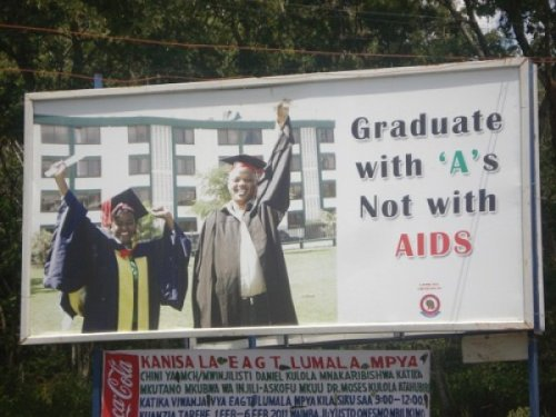 Don't Graduate with AIDS Stay in school, but also condoms. [via]