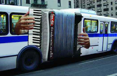heymadwoman:jaymug:Sam Ash NYC Bus AdIf it makes noise, we