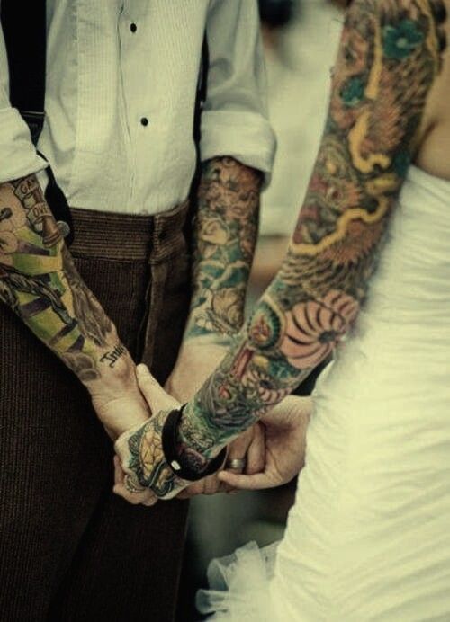 Someone asked once how am I gonna hide my tattoos on my wedding day…. I'm not