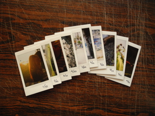 This are all 10 Instax of the 52 weeks photo project so far.