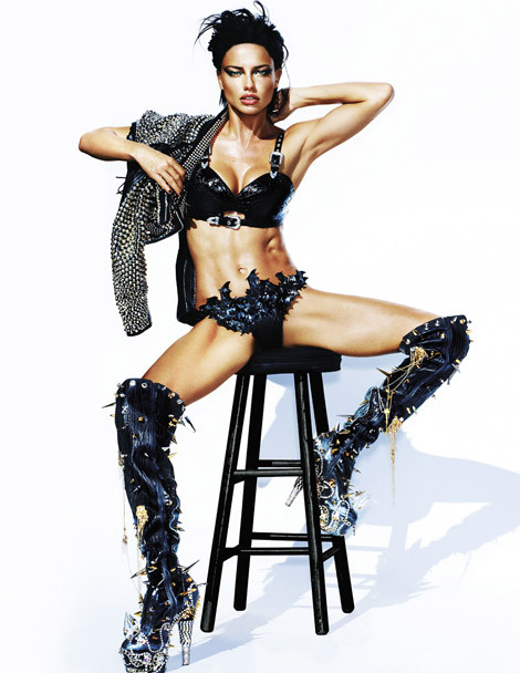 fffuckyeahboots:  (via Boot Fashion: Adriana Lima in Gasoline Glamour Thigh High Boots. V Magazine #76, Spring 2012. - Booted Up)