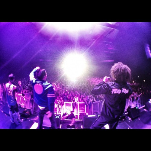 fareastmovement:  Performin #LiveMyLife the @redfoo remix. Merci amneville (Taken with instagram)