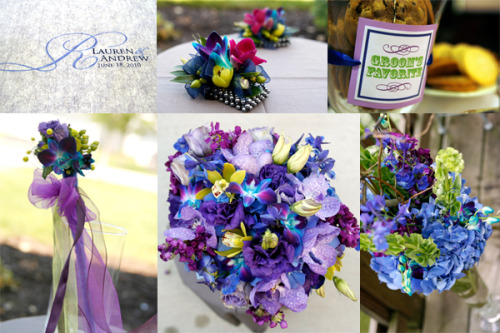 Blue & Purple, Pops of Orchids
