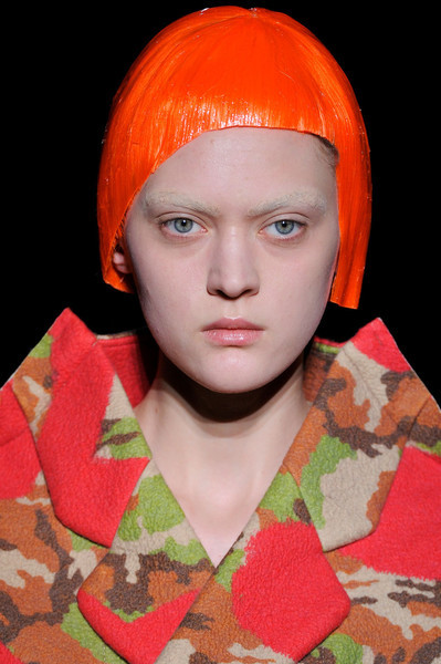 Comme des Garçons / Fall 2012 RTW see the complete runway photos —>http://missbehavecutie.blogspot.com/ But in the middle of the show, music came on and models came out in long velvet floral columns with matching face masks used in S & M sex play. Were these S& M masks an indication of how vulgar fashion has become? Long Nguyen is the co-founder and style director of Flaunt.