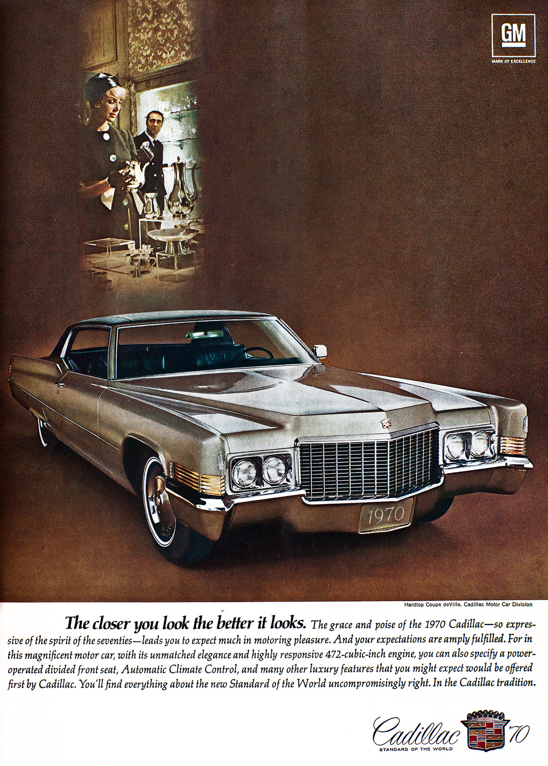 Cadillac Advertisement - Gourmet: March 1970