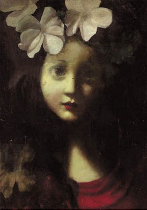 birdsong217:  Stephen Mackey Our Lady Thinking of White Flowers
