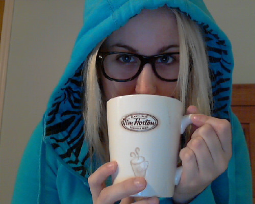 Caramel hot chocolate.  In a super Canadian mug and everything.