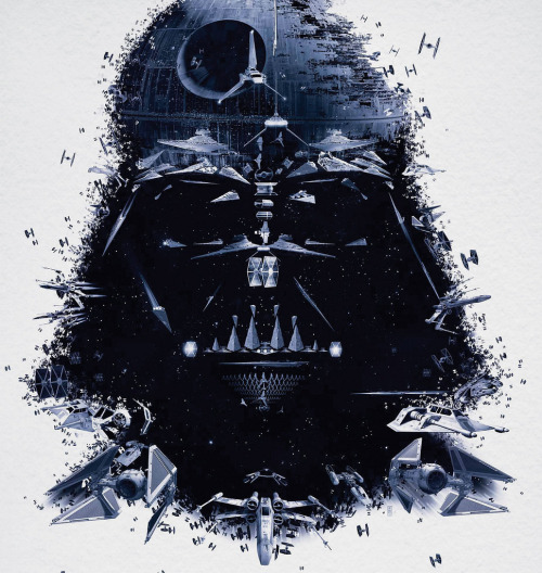 Vader rendered by the Bleublancrouge advertising agency for an exposition. Still badass!