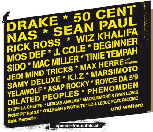 Do any hip hop heads fancy heading to Switzerland this summer?