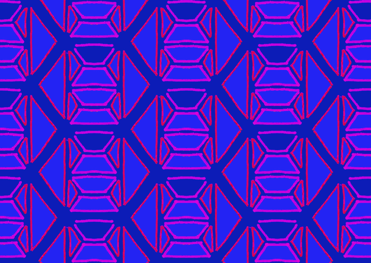 Day 74 - Pink and Purple Geometric Pattern