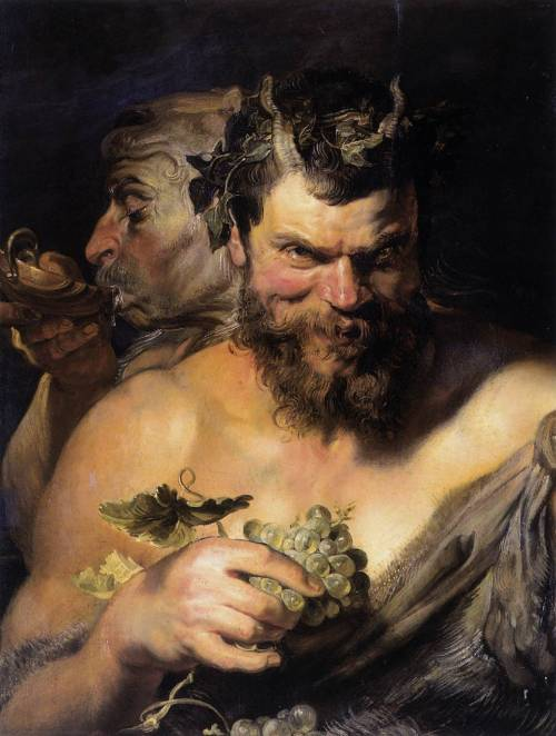 artandopinion:  Two Satyrs 1618 - 1619 Peter Paul Rubens