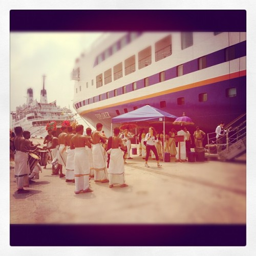 A warm Indian welcome when we arrived in Cochin! (Taken with instagram)