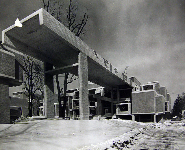 Orange County Government Center, Goshen, New York, 1971 (Paul Rudolph) This building is threatened with demolition. Though its loss unfortunately seems inevitable, please let Orange County Executive Edward A Diana know how you feel about his replacing this incredibly inventive Brutalist edifice with a glorified strip mall by contacting his office: http://bit.ly/w8j3Vx