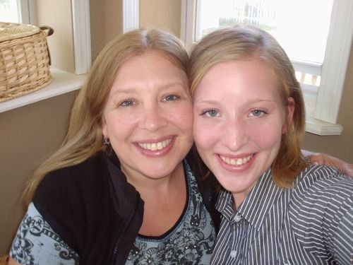 my mom and myself with short hair (October 2010)