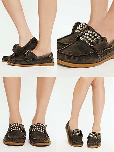 Mainland Studded Boatshoe from Free People… the word rad comes to mind…