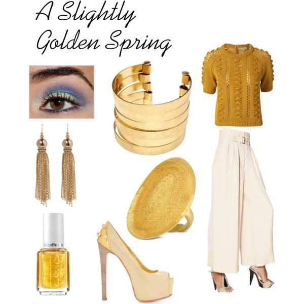 Gold Sweet Gold by thinkeventsplanning featuring gold bangles