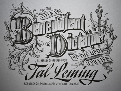 typeverything:  Typeverything.com Beautifully detailed lettering in pencil by Ken Barber (via Type and Lettering: Benevolent Dictator)