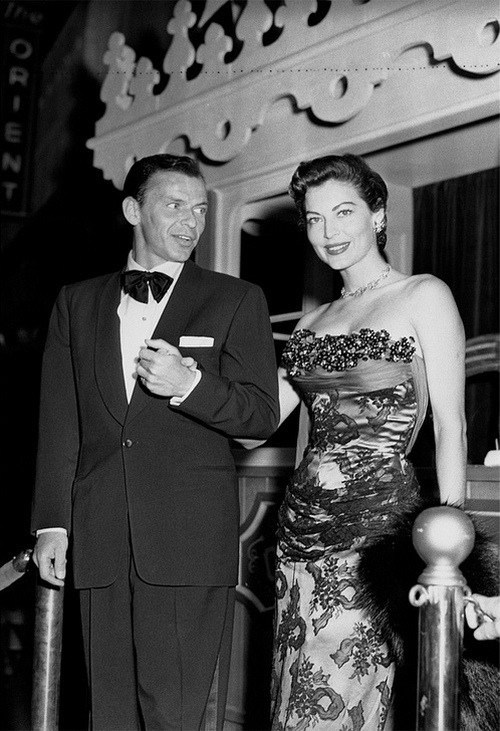 theniftyfifties:  Frank Sinatra and Ava Gardner
