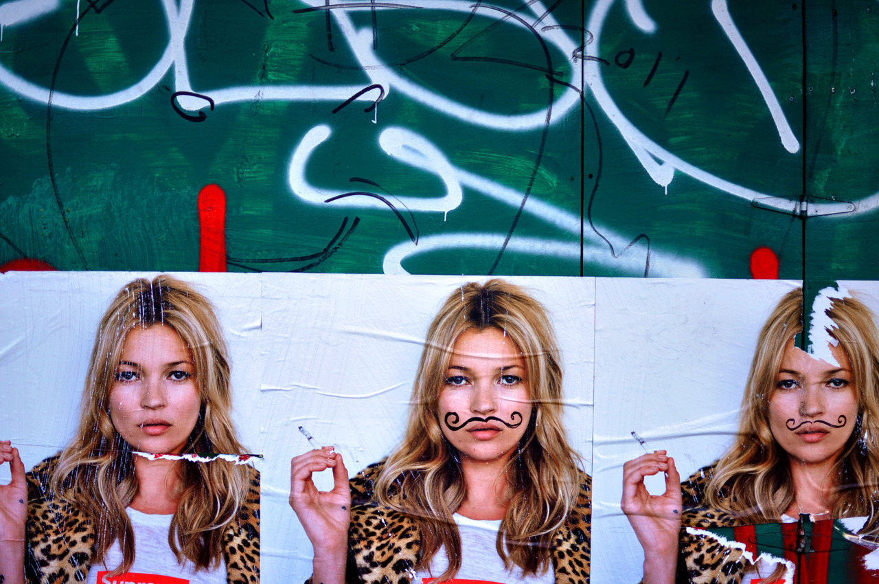 Kate Moss poster? Wait a second… NYC <3