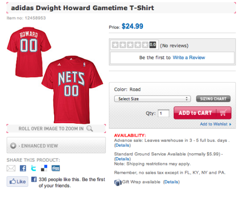 raubelmatth3w:  Dwight Howard Nets's Shirt already being sold in NBA store? LOL   OH SHIT lol but the double 00's? Greg Ostertag hahaha