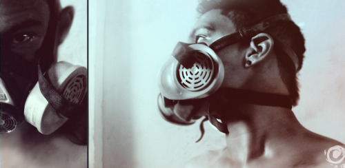 my gas mask and me :)