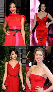 Vampire: The red dress and red lips combo is absolutely on fire right now and it works on women of every possible coloring!!