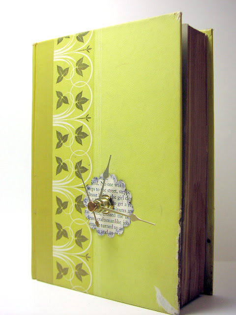 unconsumption:  DIY project du jour: Turn a discarded book into a clock. For tutorial, see Shealynn's Faerie Shoppe. Spotted on Candoodles blog. More uses for unwanted books here.