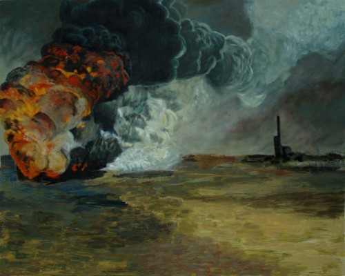 Edwin Gardiner, 2012 Oil fire 153 x 122 cm Oil on canvas