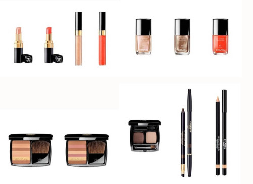 iam-lina:  Chanel Summer Collection 2012 So excited for this collection! I love how Chanel Beauté stayed with the neutrals and didn't go overboard with the bright colors like last year. I love two of the polishes and the pink blush/bronzer compact. Not sure of the rouge coco shines, but they seem nice!  I absolutely love how much orange there is this spring :)