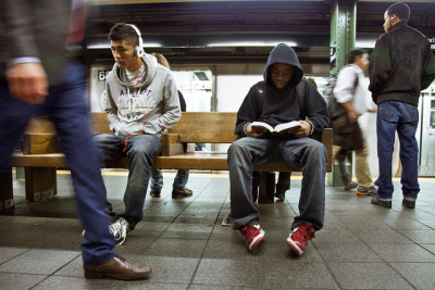 Underground New York Public Library is an awesome new Tumblr featuring photos of people reading while they wait for the subway. The arresting photos speak for themselves. Long train commutes make New York one of the most literary cities in the U.S. And because New York as one of the fashion capitals of the world,  you have all the ingredients you need for one very stylish documentary project. H/T: In Other News
