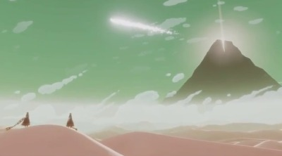 Journey came out yesterday, March 13th, on the PlayStation Network for non-Plus members, whom already had access to the game.I beat it a few minutes ago. jeez. one of the most satisfying gaming experiences of my life, much like Flower (which was also developed by thatgamecompany). wonderful music, perfect visuals, engaging narrative, and the co-op ended up adding a lot to my game. you never need a partner, but there are moments where it really helps to have a friend tagging along, and for reasons I didn't expect. it almost became an emergent narrative (wherein a story naturally composes itself as a result of the gameplay rather than being written in) at points! yeah, i beat it in an hour and a half, but it was still completely worth $15. the gameplay never fumbles; it's really smooth and intuitive without necessarily being easy. the game isn't hard by any means, but it has some tricks that'll throw some players off for a bit. i certainly saw my fair share of that just during my playthrough whilst studying my anonymous companion. most of the trophies are exploration/co-op based, and that's where you'll get your challenge because some of them seem rather difficult to complete. i didn't check, but i'm pretty sure there's a chapter select once you complete the game once. anyway go buy it or grab it from a friend's profile or hell just play the whole game at a friend's house. it's a totally fulfilling experience, and i would imagine that it's worth multiple playthroughs.