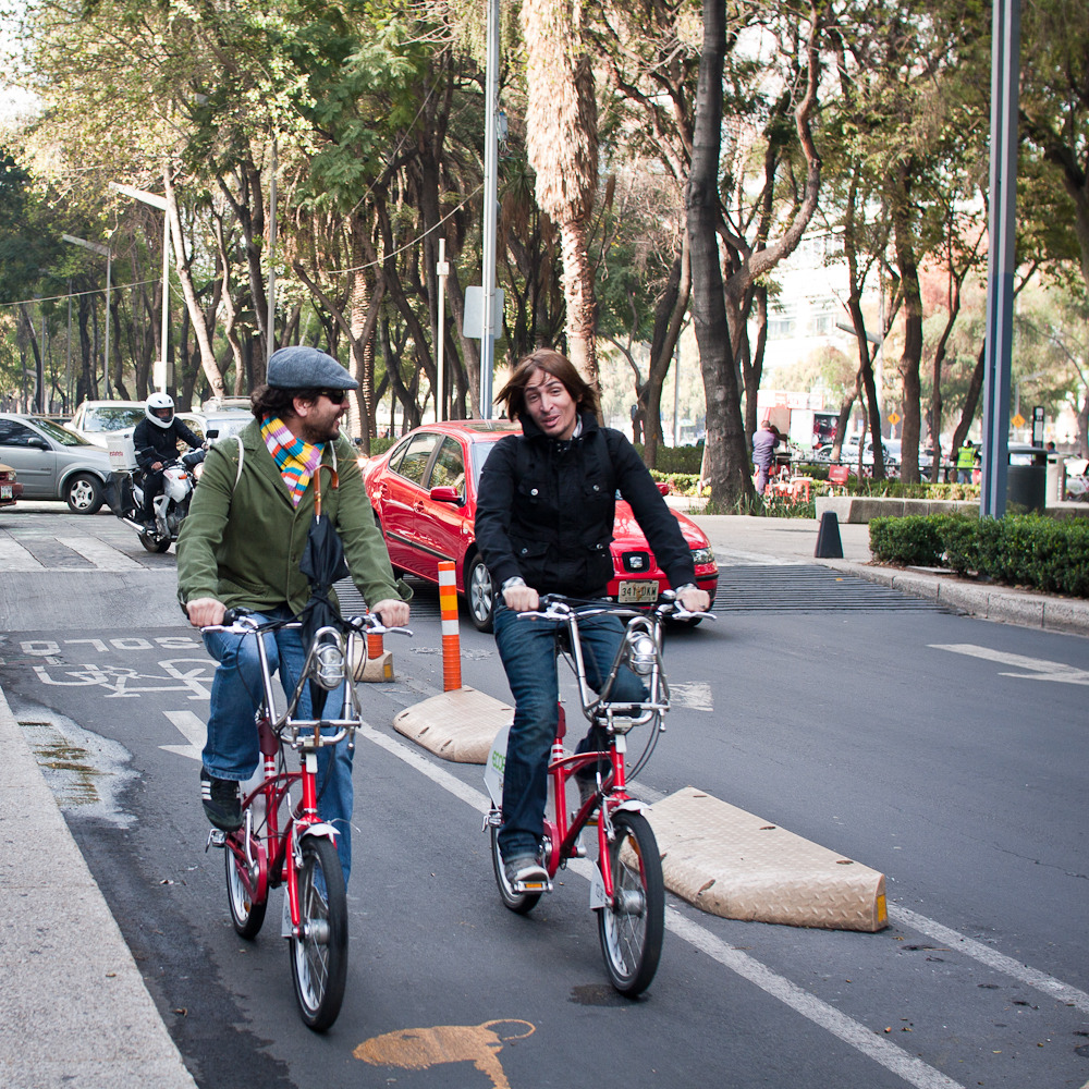 ecobici riders. mexico city, november 2011.