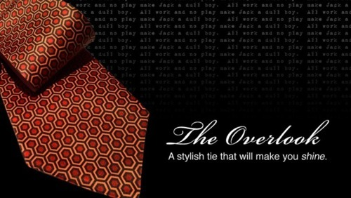 the-overlook-hotel:  The Shining Overlook Hotel carpet pattern necktie, available here.  I need a new tie. Hmm….