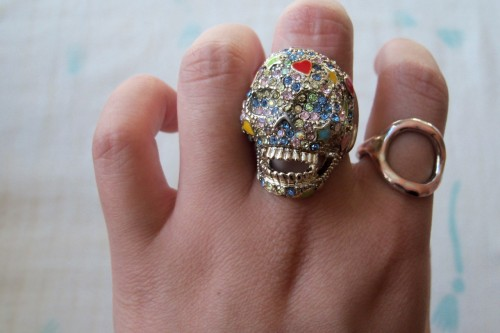 fawun:  candy skull ring :)